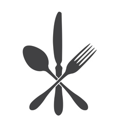 Spoon knife and fork - cross vector