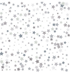 stock silver falling stars on a white background vector image