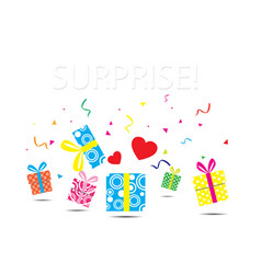 Surprise gift box vector