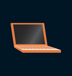 Technology gadget in flat design laptop vector