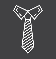 Tie line icon business and necktie vector