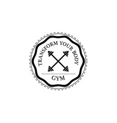 training gym fitness logo vintage style vector image