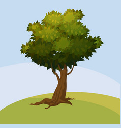 Tree cartoon style isolated for games and vector
