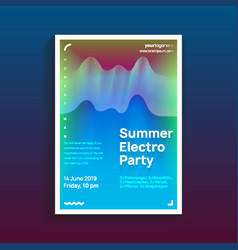 trendy modern poster design template with vibrant vector image