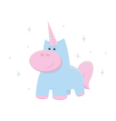 unicorn cute for print vector image