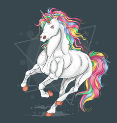 unicorn run fullcolour vector image