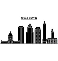 Usa texas austin architecture city skyline vector