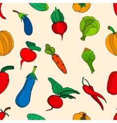 Vegetables and spices vector