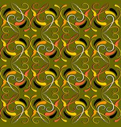 vintage colorful floral seamless pattern damask vector image