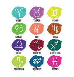 zodiac symbols horoscope signs vector image