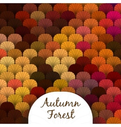 Autumn Forest Scaly Texture vector image vector image