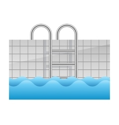 realistic swimming pool icon vector image