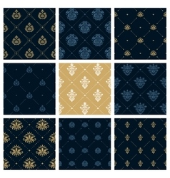 Royal patterns or victorian christmas background vector image