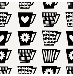 Seamless Coffee Cups Pattern vector image vector image