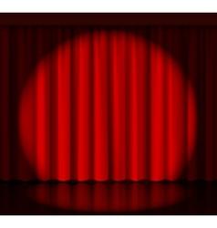 Spotlight on stage curtain vector image