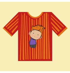 t-shirt boy strips vector image vector image