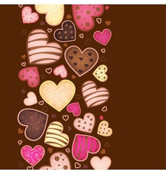 vertical background for text with sweetmeat vector image