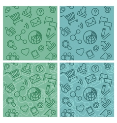 Internet communication patterns vector
