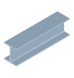 isometric steel beam vector image