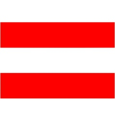 austrian flag vector image vector image