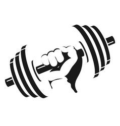 dumbbell in hand vector image