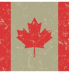 Grunge square flag of canada vector