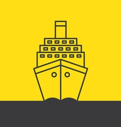 Ship sea cruise liner vector