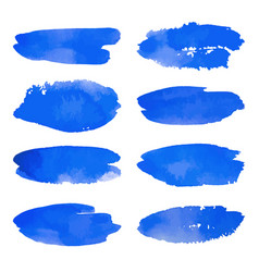 watercolor set of blue banners spots vector image