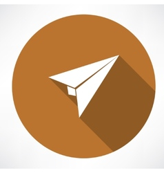 airplane paper sign vector image vector image