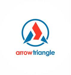 arrow triangle logo vector image vector image
