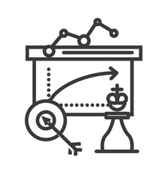 business tactics line icon sign vector image
