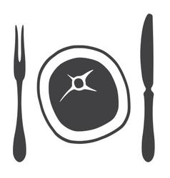 Cutlery knife fork steak - vector image vector image