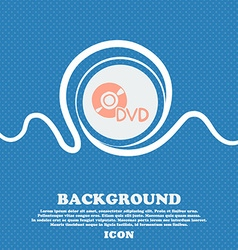 dvd sign icon Blue and white abstract background vector image
