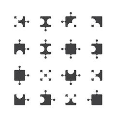 jigsaw icon design vector image vector image
