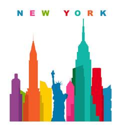 multicolored new york city flat vector image