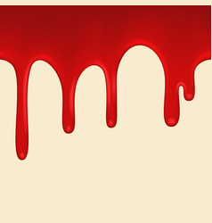 seamless red paint colorful dripping vector image