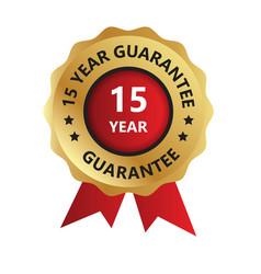 15 year guarantee badge guarantee certificate vector