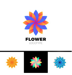 abstract flower resort spa logo icon isolated in vector image