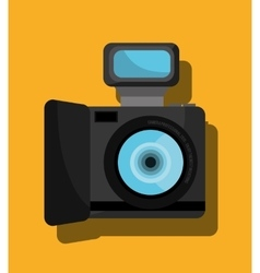 Analog camera graphic icon vector