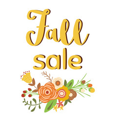 autumn sale poster discount promo web banner vector image