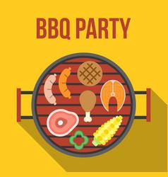 Barbecue party vector