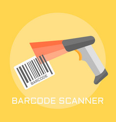 Barcode scanner flat design vector