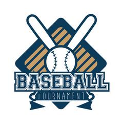 baseball logo sport vector image
