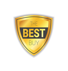 Best buy badge sticker golden shopping sale icon vector