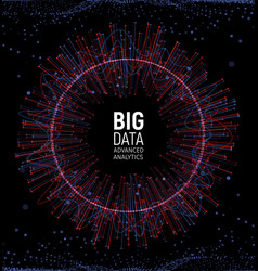 Big data abstract visualization lines and vector