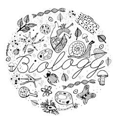 Biology Doodles vector