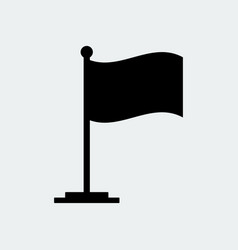 black flag icon flag stand vector image