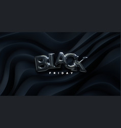 black friday sign 3d vector image