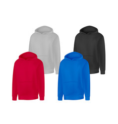 blank different colors mens hoodie sweatshirt vector image