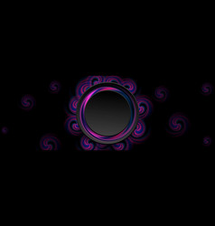 blue and ultraviolet abstract circle swirls banner vector image